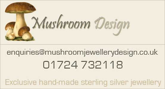 Fine sterling silver jewellery by Mushroom Design