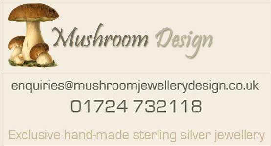 Fine sterling silver jewellery by Mushroom Design