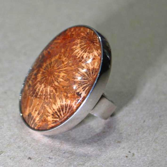 Petrified Coral Ring