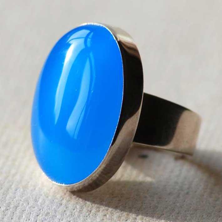 Blue Onyx Ring