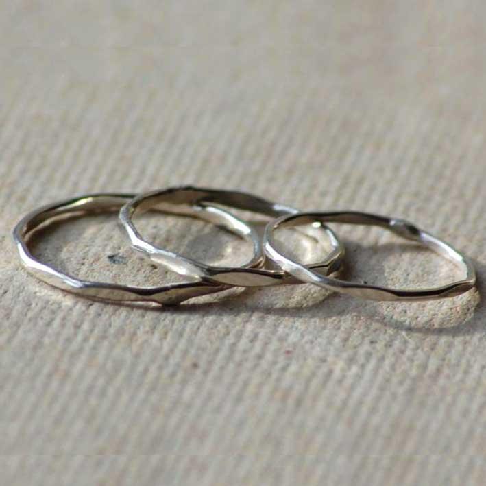 Threepenny Bit Rings